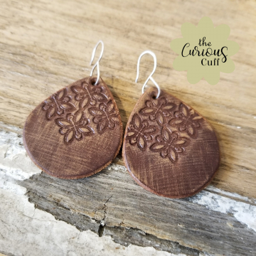 Moroccan Teardrop Leather Earrings